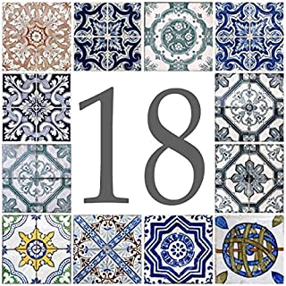 Azul'Decor35 House number plate earthenware - Choose your number and the size of your street sign!