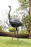 Dipamkar ® Grand Métal Bronze vieilli Statue de jardin effet peau d'autruche pour vitrine de magasin 140 x 72 x 36 cm...