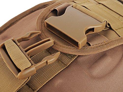 Sumchimamzuk Outdoor Sports Tasche militaerische Taktische Umhaengetasche fuer Camping Wandern Trekking Khaki