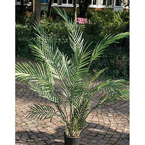 artplants Set 'Kunst Areca Palme + Gratis UV Schutz Spray' – Künstliche Zimmerpflanze Bonny, grün, 120 cm