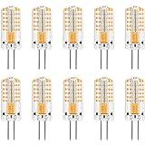 MENGS® 10 stuks dimbaar G4 LED-lamp 3W DC 12V warm wit 3000K 48x3014 SMD