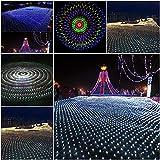 URIJK LED Lichternetz Lichterkette mit Stecker Beleuchtung Deko 8 Modi Lichter für Party Garten Weihnachten Halloween Hochzeit Beleuchtung Dekoration