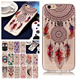 V-Ted Coque Apple iPhone 7 Plus 8 Plus Plume Attrape Reve Silicone Ultra Fine Mince Bumper Housse Etui Cover Transparente avec Motif Dessin Antichoc Incassable