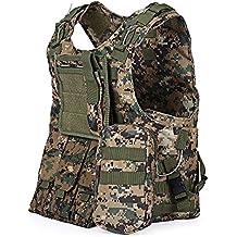 chalecos tácticos, Anfibio chaleco táctico militar Molle chaleco Combate Asalto Placa camuflaje chaleco del portador (jungle camouflage)