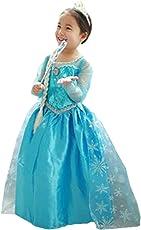 ELSA & ANNA® Ragazze Principessa abiti partito Vestito Costume IT-Dress-SEP206 (IT-FR206, 4-5 Anni)