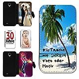 Book Style Flip Handy Tasche Case Schutz Hülle Schutzhülle Schale Motiv Etui mit eigenem Foto / Motiv M1 für Sony Xperia M2