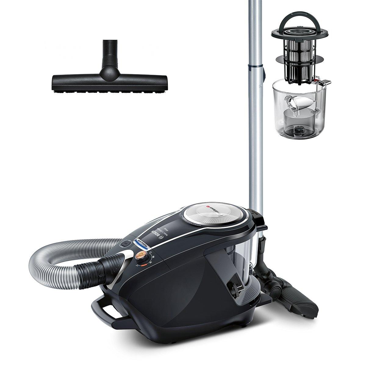 Bosch Staubsauger beutellos ProSilence Serie 8 BGS7MS64, Bodenstaubsauger, leise, Hygiene-Filter, Bodendüse für Parkett…