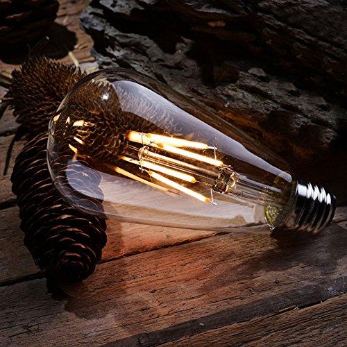 Wedna 4er Pack E27 6W Vintage Edison LED Glühbirne, ST64 Antike LED Filament Lampe Ersetzt 60W (2700K Warmweiß, Nicht dimmbar) Ideal für Nostalgie und Retro Beleuchtung