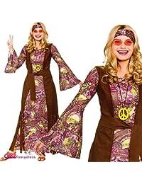 b1e1225ad2f Wicked Costumes Adult Female Summer of Love Hippie Fancy Dress Costume ( Women  14-
