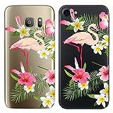 Original Lanboo® Silikon Case Für Samsung Galaxy S6 Edge #6 Motiv 1 - Schutz Tasche Schale Hülle Etui Cover Bumper TPU mit Flamingo Vogel Blumen Blüten Pflanzen Wildnis Abbildung