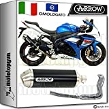 Arrow Auspuff Komplett Hom race-tech Aluminium Dark Suzuki GSX-R 100020151571791Aon + 71462Ich