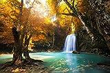 Fototapete WASSERFALL in KANCHANABURI-(365p)-Größe 350x260cm in 7 Bahnen-Inkl....