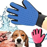 TQWMU Grooming Glove And Furniture Pet Shedding Hair Remover, Deshedding Bathing Cleaning Petting Massage Mitt For Dog, Cat, Equine, Horse, Puppy, Rabbit, Animal.