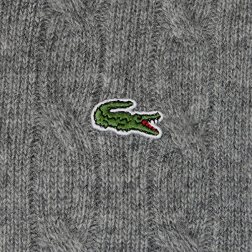 Lacoste–Kabel Knit Crew Neck Jumper, Pierre Grau