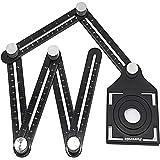 Chanhan Angleizer Template Tool, 6 Sides, Alulegierung Winkelschablone Multi winkel lineal, Multifunktionslineal…