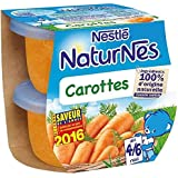 Nestlé naturnes carottes 2x130g dès 4/6 mois - ( Prix Unitaire ) - Envoi Rapide Et Soignée
