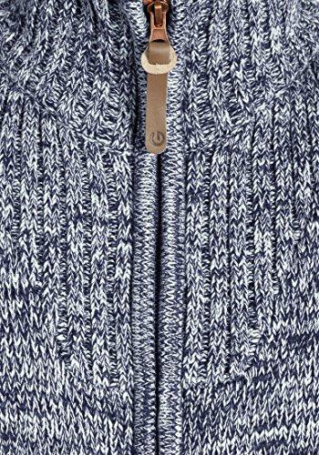 SOLID Herren Pomeroy Strickjacke Cardigan mit Stehkragen aus 100% Baumwolle Insignia Blue (1991)
