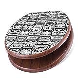 banjado Design Toilettensitz mit Absenkautomatik, WC-Sitz Holz, Klodeckel mit Metall Scharnieren, Toilettendeckel mit Motiv Eule und Olaf