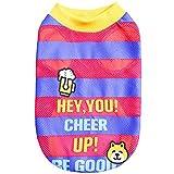 Hawkimin Haustier T-Shirt Hey,You! Jubeln Prost Polyester Stilvolles Gestreift Hund Kleider Weste Kleine Haustiere Hund Kostüm Sportswear Kleid Pullover