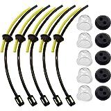 Laixin 5 x Universal Kit de filtros de Gasolina Tubo Sello para Motor Sense Cepillo Cortador cortacésped Cortador