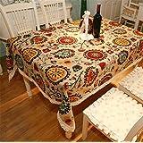 pengweiretro algodón y lino mantel estilo mediterráneo pastoral mantel, 140* 200cm