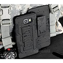 Galaxy A5 2016 Funda, Cocomii Robot Armor NEW [Heavy Duty] Premium Belt Clip Holster Kickstand Shockproof Hard Bumper Shell [Military Defender] Full Body Dual Layer Rugged Cover Case Carcasa (Black)