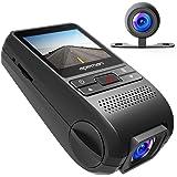 """apeman Dual Dashcam GPS Autokamera Full HD 1080P 2"""" IPS Bildschirm 170¡ã Weitwinkel mit G Sensor, Loop-Aufnahme, Bewegungserkennung, Parkmonitor"""