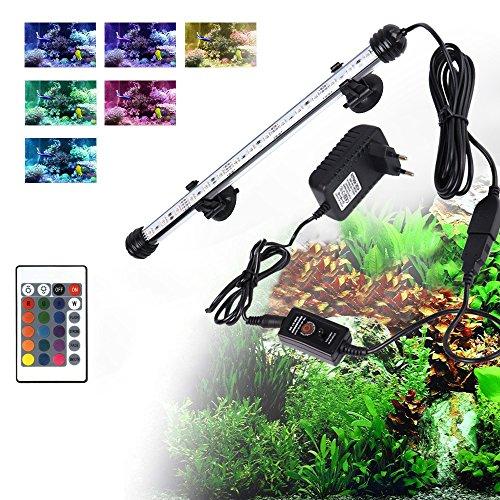 Preisvergleich Produktbild JoyTutus Aquarium LED Beleuchtung Leuchte Lampe für Fisch Tank EU Stecker Weißlicht Wasserdicht