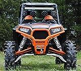 SuperATV Polaris RZR 900/1000 Front Brush Guard (White Aluminum) by Super ATV