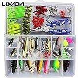 Generic Set 1 : 101PCS Fishing Lures Hooks Set With Box( Sets 2 ),35Pcs Soft Worm Lure Carp Set + 10 Lead Head Jig Hooks ( Sets 1 ) Tackle Pesca