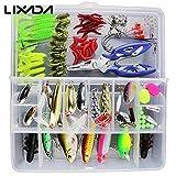 #6: Generic Set 1 : 101PCS Fishing Lures Hooks Set with Box( Sets 2 ),35Pcs Soft Worm Lure Carp Set + 10 Lead Head Jig Hooks ( Sets 1 ) Tackle Pesca