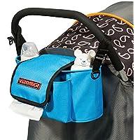iSuperb Stroller Organizer Kinderwagentaschen Wickeltasche Wasserdicht Wickeltaschen Diaper Bag Blaue Streifen