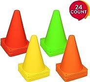 REEHUT Set Coni Sport da 24 Pezzi, Coni Allenamento con Materiale Ambientale, Non Deforma, Anti-Urto per attività, Gioco, Cal