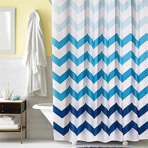 byce alta qualità, Wave Stripe tenda doccia tenda bagno casa Decal- dimensioni assortite, 180X200cm/72x80 inch (Berry Water Garden)
