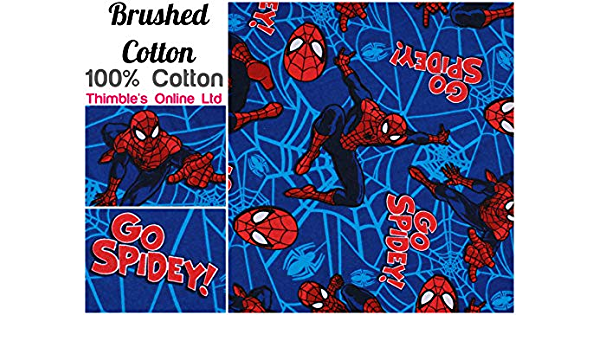 Spider-man fabric UK fat quarter 56cm x 50cm approx 100/% cotton material web sli