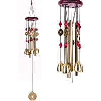 Lilone Pipe and Bell Wind Chimes for Home | Jingle Good Sound | Multi Color | 24 Inch Long