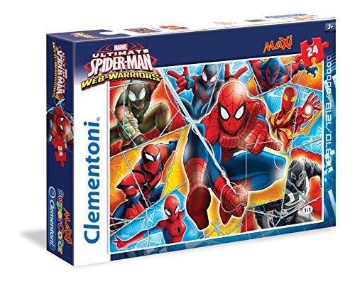 Clementoni 24053 - Puzzle Spiderman, Web Warriors, 24 Maxi Pezzi, Multicolore