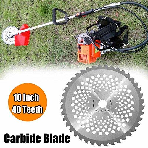 Alftek 10 Zoll 40 T Zähne Carbide Tip Klingen für Freischneider Trimmer Bohrung Durchmesser 25,4mm