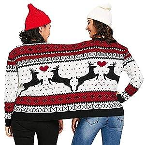 Weihnachten Damen Kleidung,Juliyues Zwei Personen Weihnachten Sweater Pullover Unisex Paare Neuheit Sweatshirt Jumper Tops Bluse