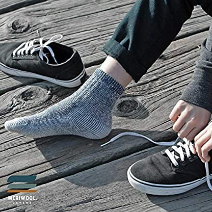 MERIWOOL Merino Wool Kids Hiking Socks for Children 3 Pairs 7