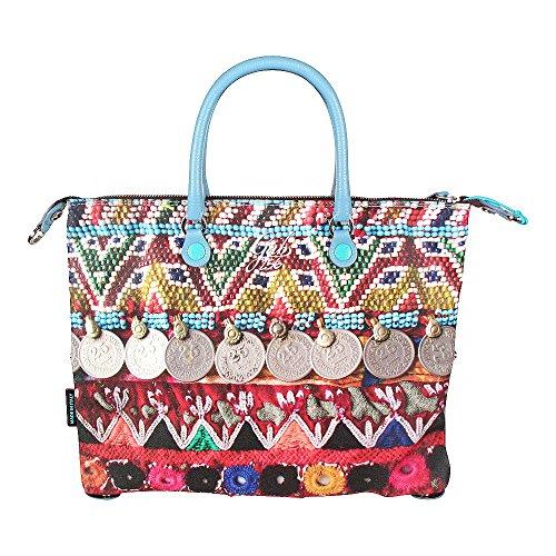 GABS donna borsa trasformabile G3STUDIO-E17 PN S0256 M Multicolore Barato 2018 Nueva 6AxjV