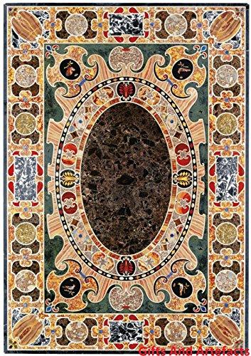 182,9x 121,9cm Rechteck schwarz Marmor Konferenz Tisch Top Einlage Einzigartiges Design