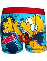 Producto oficial de regalo diseño de los Simpsons Bart , 1 lote de tipo bóxer diseño para niños de color azul (£7,99 diseño de!)