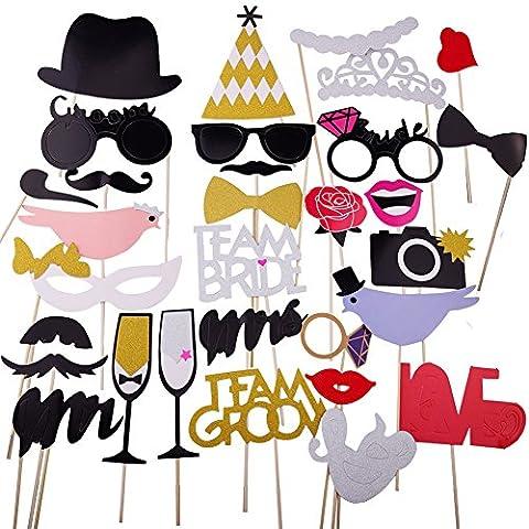 Ritche Frau Herr Foto-Stand Props Maske Kit Frohe Weihnachten Dekoration liefert für Hochzeit Valentinstag