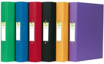 Q-Connect A4 2 Ring Binder Polypropylene - Assorted, Pack of 10 ...