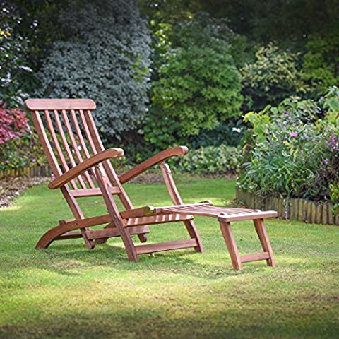 Plant Theatre Reclining Hardwood Steamer Chair – Fully Assembled Superb Quality