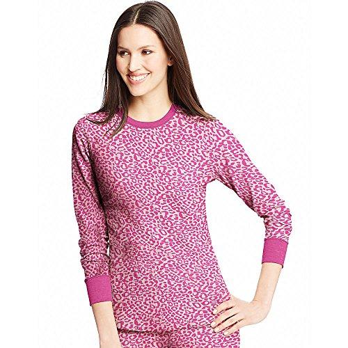 Hanes Damen Oberteil Rosa - Pink Leopard