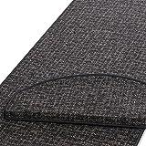 casa pura Läufer | Grau gekästeltes Muster | Qualitätsprodukt aus Deutschland | Gut Siegel | Kombinierbar mit Stufenmatten | Viele Breiten und Längen (80 x 200cm)