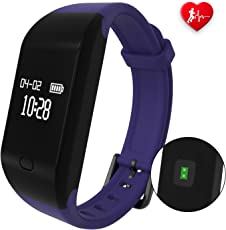 Bracciali Fitness,Fitpolo Orologio Smart Watch Fitness Activity Tracker Cardiofrequenzimetro Impermeabile IP67 Contapassi Smartband Bracciale Braccialetto Pedometro da Polso Smart Watch per Uomo Donna