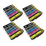 PerfectPrint Cartouche d'encre de remplacement pour imprimante Epson Expression XP-510 600 605 610 615 700 800 26 XLL(Noir/cyan/magenta/jaune, 20)
